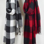 S622 buffalo plaid scarf
