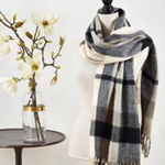 S822 plaid scarf