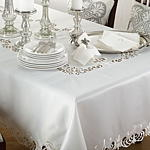 114 cutwork design tablecloth Closeout