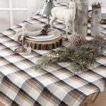 1697 texture plaid tablecloth