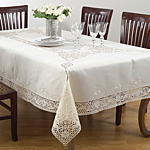 QX598 cutwork tablecloths