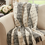 TH067 Striped Throw
