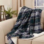 TH122 Faux Mohair Sherpa Throw
