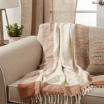 TH301 Banded Border Throw