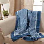 TH310 Block Print Kantha Stitch Throw