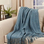TH320 Knotted Faux Mohair Throw