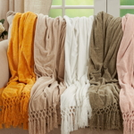 TH405 Knotted Chenille Throw