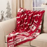 TH434 Christmas Knitted Throw