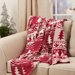 TH544 Christmas Knitted Throw