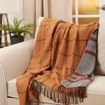 TH909 Reversible Plaid Throw