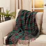 TH910 Reversible Plaid Throw
