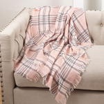 TH023 checkered throw