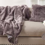 TH161 faux fur throw