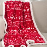 TH203 christmas sweater throw with sherpa