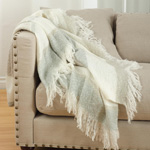 TH223 faux mohair design throw
