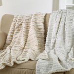 TH232 Foil Print Faux Fur Throw