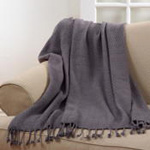 TH251 diamond weave tassle throw
