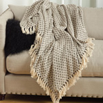 TH263 soft cotton diamond weave throw