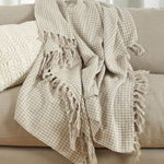 TH268 soft cotton houndstooth throw