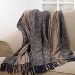 TH391 thick stripe throw