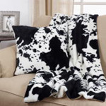 470 faux fur cow hide pillow