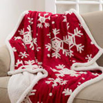 TH480 snowflake throw with sherpa