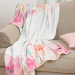 TH528 floral printed throw