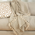 TH560 soft cotton chevron throw