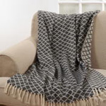 TH580 diamond tassle throw