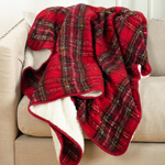 TH702 faux mohair design sherpa throw