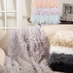 TH706 faux mongolian fur throw
