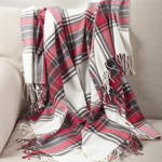 TH804 plaid tasseled throw