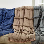 TH810 Fringe Line Throw