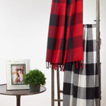 TH905 buffalo plaid throw