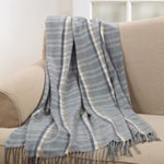 TH929 plaid tassle throw