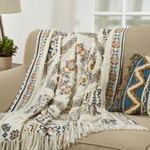 Th939 Printed And Embellished Throw