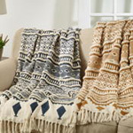 Th945 Printed And Embellished Throw