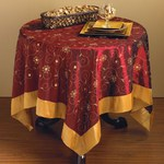 XJ511 embroidered & sequined tablecloth Closeout