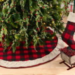 1786 buffalo plaid + sherpa stocking