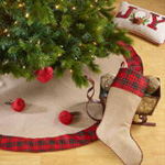 5011 tartan plaid trim stocking
