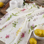 1015 Watercolor Floral Stems Kitchen Towel