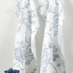 1162 toile floral kitchen towel