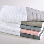128 terry towel with linen border
