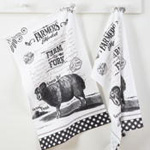 1884 farmers market kitchen towel