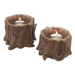 V140 tree stump votive