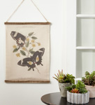 WA363 Butterfly Canvas Wall Hanging