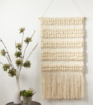 "WA911 textured woven wall hanging - 47""h"