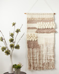 "WA915 textured woven wall hanging - 47""h"