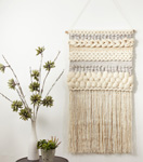 "WA916 textured woven wall hanging - 47""h"