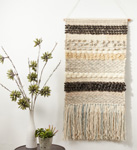 "WA939 textured woven wall hanging - 47""h"